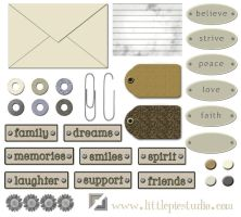 Digital Scrap Embellishments 1 by LittlePieStudio