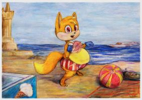 Azelio on the beach 2 by SSsilver-c