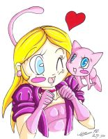 Linda and Mew by malino555