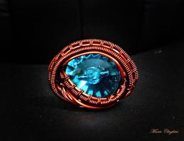 Over and Under Wire woven Ring by mariachughtai