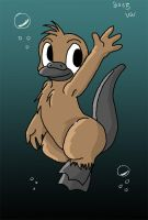 Little platypus says hello by snowcalico