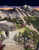 [Clipped art from Patreon] Lyvank Mountains by mick39