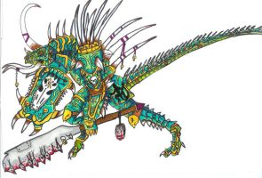 Mandarin Lizard warrior by Lord-starscream