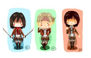 Snk Girlies by wafflesrules