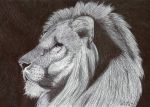 Ballpoint Lion by Cindy-R