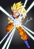 Goku super sayan 3 Vector art by Comunello76