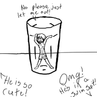 Lil Guy in a Glass... by Taryndedoo