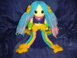 Sona Arcade from League of Legends amigurumi by ForgottenMermaid