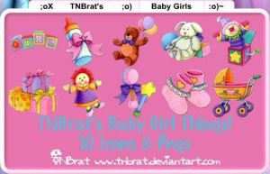 Baby Girl Things Icons  Pngs by TNBrat