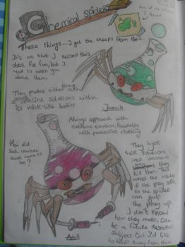 Chemical spiders- Journal page 4 by hananas59