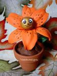 Tiger Lily Clay Flower by MeadowDelights