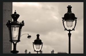 old street lamps by bracketting94