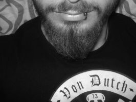 Beard And Piercing by Thue