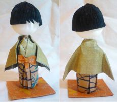 Art-Trade: 3D Origami Kid - Boy in Green by mihijime