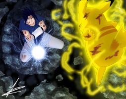 Sasuke vs Pikachu 3 by francosj12