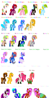 Closed A Big Batch of Pony Adopts Open by Ety-Adopts