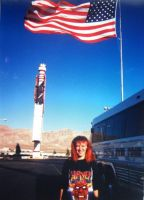 American flag, and me in Slayer shirt by SOFIAMETALQUEEN
