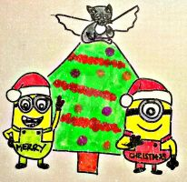 Minion Christmas! by bonztee