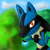 Lucario ft. crappy backgrounds by 8NIKKU8
