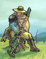 The Yakcow Herdsman colored by spohniscool