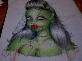 Zombie pin up by twistedxperspective