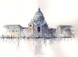 Venice watercolor by Tony Belobrajdic by artiscon