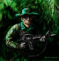 Jungle warfare. by s0fus-snk