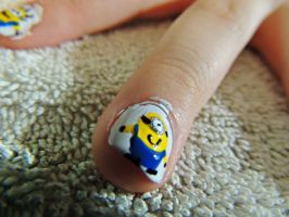 Despicable Me nail art by Just-A-DreamerXo