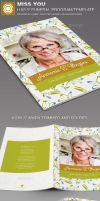 Miss You Funeral Program Template by loswl