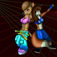 Sandy and Alicia dancing by YoYoFreakCJ