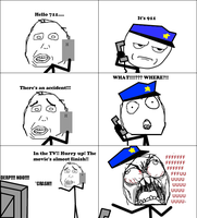 Calling 911, But Wait... 2 -Rage Comic- by Albowtross91