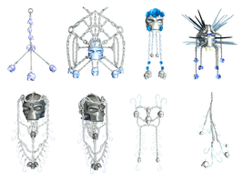 Chains And Skulls PNG Stock by Roys-Art