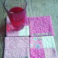 Coasters, Pretty in pink by TerraRavenBearheart