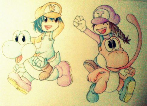 katie and me in mario's world by TeTeGAMER