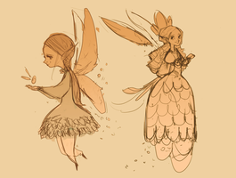 Fairy Sketches by lemurali