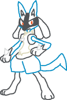 Yarn Lucario by bws2cool