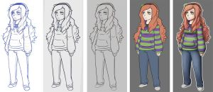Vivian James Process by HenLP