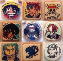 Handpainted Anime cookies by Bluesoul1
