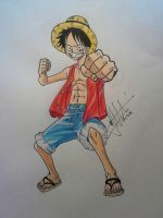 Monkey D. Luffy! [One Piece] by delPuertoSisters