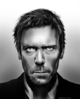 Hugh Laurie [Dr. House] by geekyglassesartist