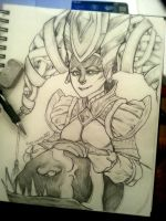 DOTA 2 - Naga Siren .. by mortinfamiART