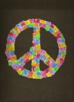 Starburst Peace Sign by x0xbeautifuldisaster