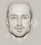 Aaron Paul scribble by bwenner