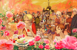 Hetalia tea party by hinoraito
