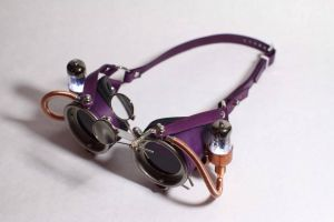 Purple Light Up Steampunk Goggles by CraftedSteampunk