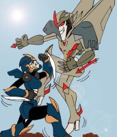 TFP: Arcee VS Starscream by xero87