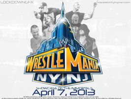 Wrestlemania 29 Wallpaper Ad by LockdownGFX