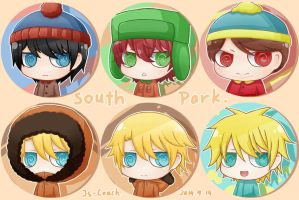 South Park-Chibi Badges 1- by JS-Coach