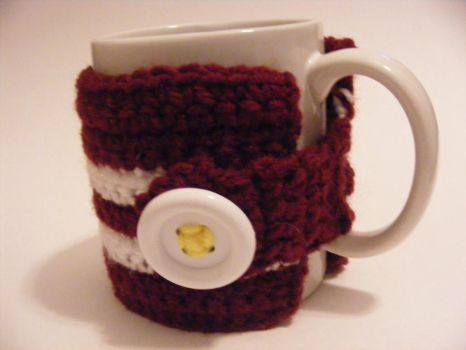bacon and egg coffee cup cozy by dimplegirldesigns