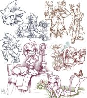 Sonic Boom Sketches by day-vii